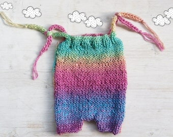Colorful Knit Romper / Newborn Photo Props / Baby  Girl Outfit / Newborn Girl Photo outfit