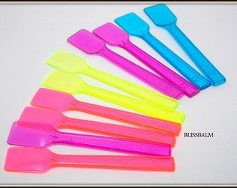 10 Mini Sampler spoons Spatula Disposable Spatula Cosmetic applicator Samples Gelato Mini plastic desert spoons lab spatula Tasting spoons