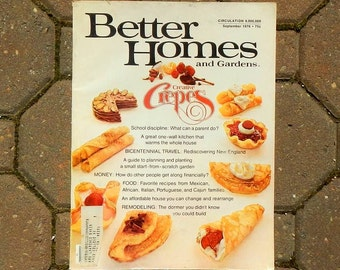 Vintage Better Homes and Gardens Magazine September 1976