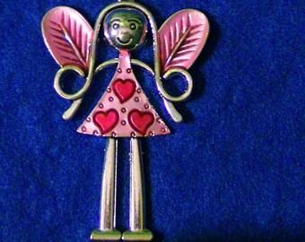 Hot Pink Fairy Pendant