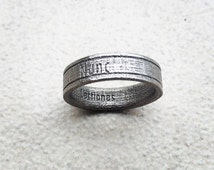 Custom Ring - Inspirational quote ring, made from polished stainless steel. Available in other materials