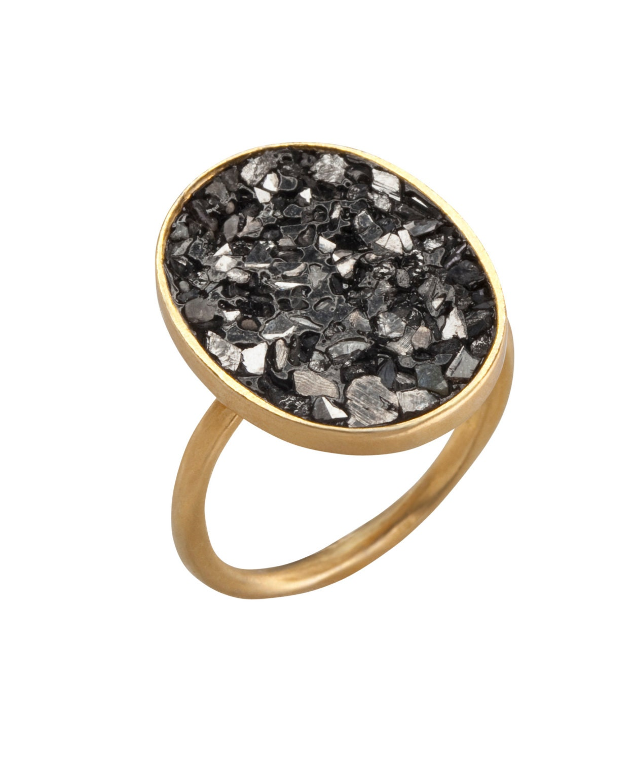 dainty gold ring engagement ring black gold by