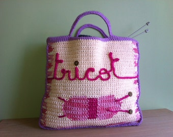 Pattern PDF Needlework's bag cotton hook