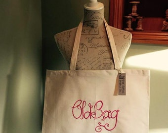 Super shopper 100% cotton large tote OLD BAG Birthday Mother's Day Christmas Gifts for Her