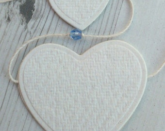 Ragboard Heart Garland with Crystals