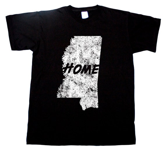 Mississippi home tee magnolia state jackson t shirt by for T shirts jackson ms