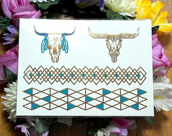 Buy any 2 get 1 free - Tattoos Temporary, Gold Metallic Tattoos, Silver Metallic Tattoos, Temporary Jewellery Tattoos, Color Tattoo