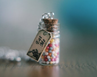 Alice In Wonderland Inspired 'Eat Me' Necklace