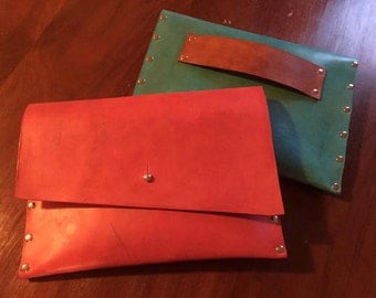 Handmade Leather Clutch (large)