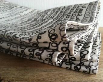 Linen Tea Towel - Scribbles