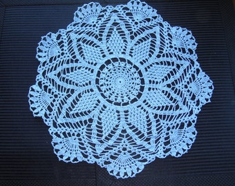 Handmade Doily Sky Blue 13 inches