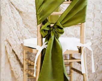 Wedding Sash - Chair Sash, Chair Decor, Wedding Chair Decoration, Chair Ribbon, Chair Bow, Pew Bow, Isle Decoration,