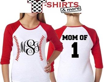 Monogrammed Baseball T-Shirt w/ Name & Number