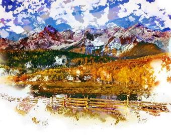 Colorado Rocky Mountains in the Autumn