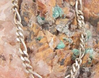 Sterling Figaro Chain Bracelet