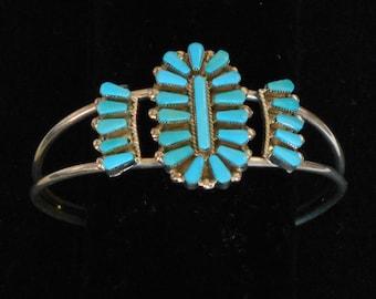 Sterling Zuni Turquoise Bracelet