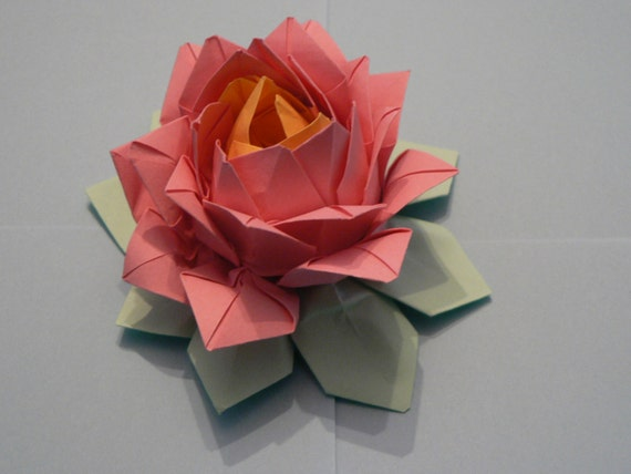 RoseScented Origami Water Lily by SoulScent on Etsy - photo#24