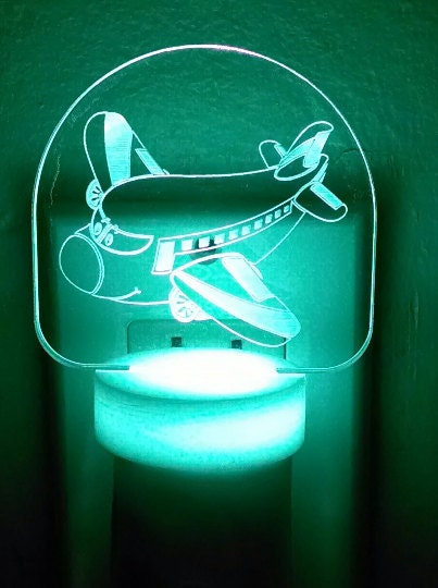 Airplane Led Nightlight Night Light Personalized By
