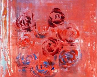 Oil painting framed/MJG framed oil painting artist verdunluv, contemporary painting, contemporary art, Quebec artist