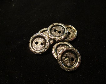 Antique Metal Buttons - Lot of 6