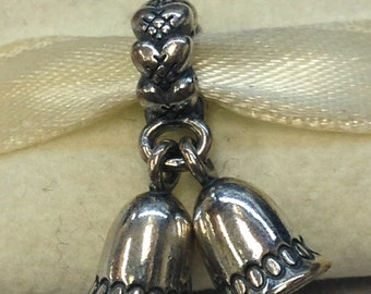 Authentic Pandora Silver Bells Charm #791230