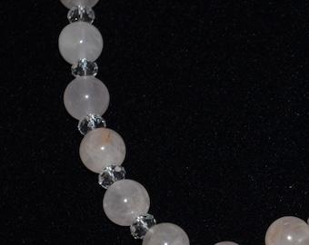 Rose Quartz with Czech beads