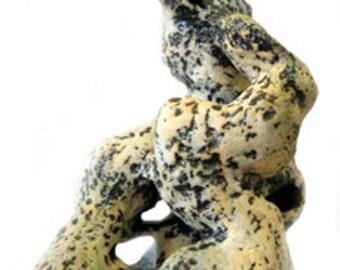Serpentine Abstract Ceramic Sculpture