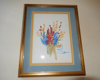 FLORAL BOUQUET PAINTING by Eda