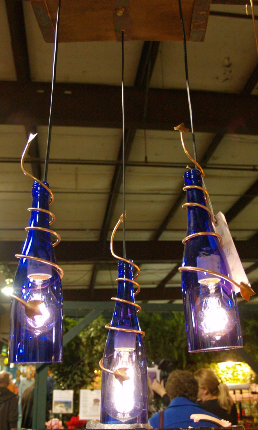 upcycle wine bottle chandelier. Black Bedroom Furniture Sets. Home Design Ideas