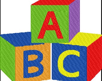 Baby Block ABC Embroidery Design