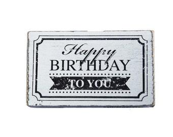 "Buffer vintage ""Happy birthday to you"" for birthday"