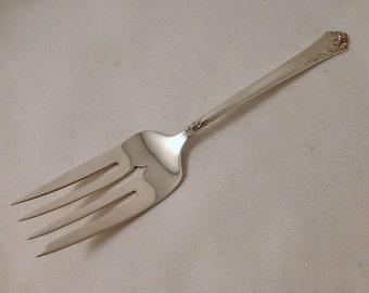 "Damask Rose by Heirloom Sterling Silver Cold Meat Fork - 8-1/4"""