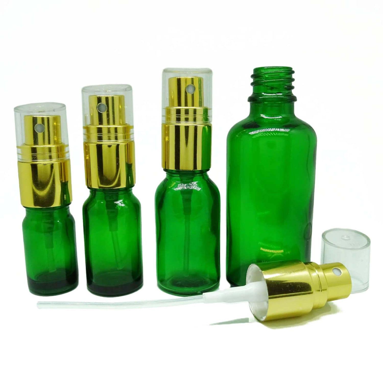 Empty glass spray bottle