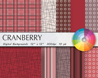 digital paper cranberry digital paper pack digital paper scrapbook paper scrapbook paper pack paper pack digital commercial use 12pk