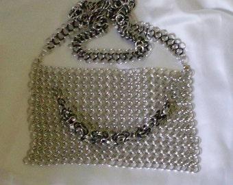 Chain mail Purse accessory hand bag