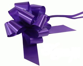 1 Bow Wedding Car Kit in Purple - 1 Bow and Ribbon