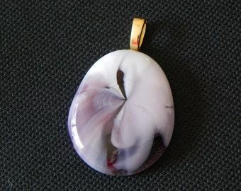 Handmade fused glass pendent