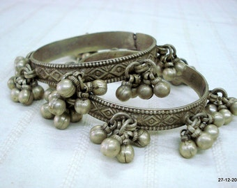 Vintage bangle Antique bangle tribal old silver Bracelet bangle set 2pc