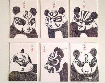 Chinese Giant Panda Postcards