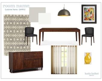 Dining Room Interior Design, E-Decorating, E-Design, E-Designer, E-Decorator, Interior Design Service