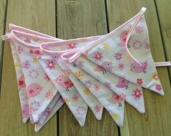 Nursery Bunting- little pink birds