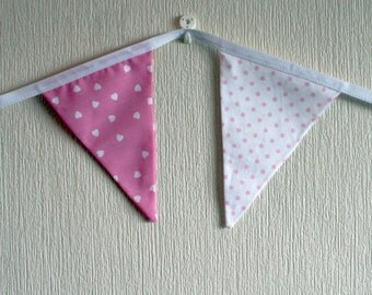 SALE - 25% off, Pink Baby Bunting, Nursery Bunting, Baby Shower Bunting, Baby Shower Decorations, Baby Gifts, Baby Shower Gifts