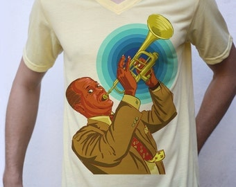 Louis Armstrong T shirt Artwork