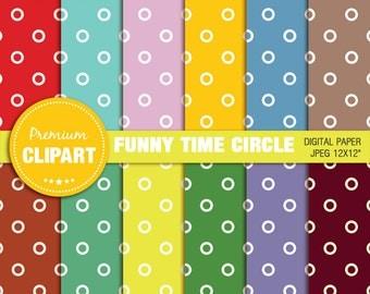 Circles digital paper, circle scrapbook paper, commercial use, scrapbooking - PAP119