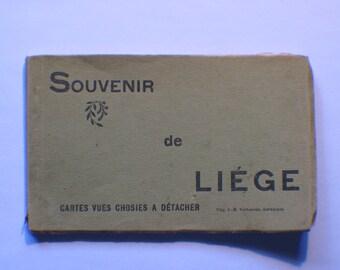 Souvenir de Liege , 10 post cards, Belgium
