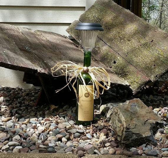 Wine bottle solar light perfect for a garden or patio for Wine bottle patio lights