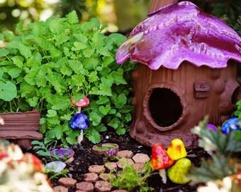 Fairy House. Fairy Garden Accessory. Garden Art. Ceramic Fairy House.