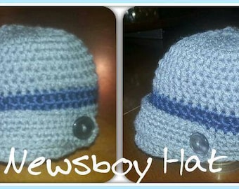 Newsboy Crochet Cap