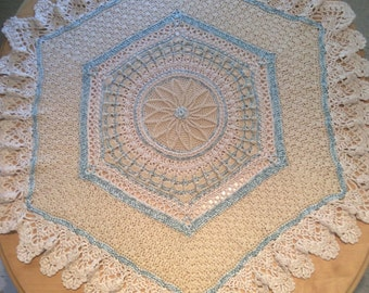 Little prince baby crochet blanket pattern