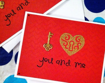 The Key to My Heart Love Greeting Card